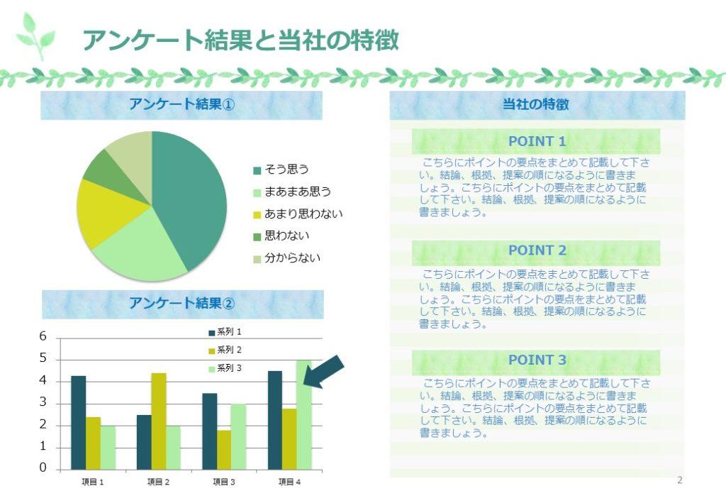 swot分析_ナチュラルなPower Pointテンプレート | PPTips.jp